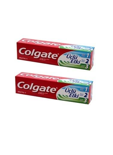 Colgate Diş Macunu Üç Etki 100 ML. X 2 ade,RNKSZ Renksiz
